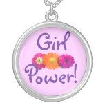 Mädchen-Power! Rosa, lila, orange Blumen Amuletten