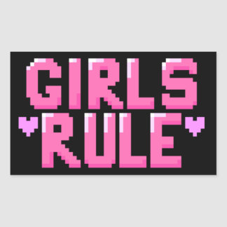 Mädchen-Regel-Aufkleber Rechteckiger Aufkleber