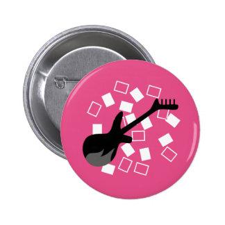 """""""Mädchen-Rockstar """" Runder Button 5,7 Cm"""