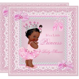 Mädchen-Rosa-Ballerina Prinzessin-Babyparty Karte