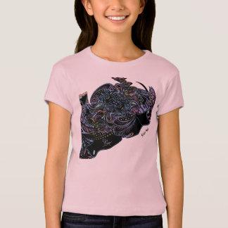 Mädchen-rosa T-Shirt farbiges Spinnen-Netz EPD
