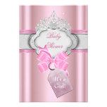Mädchen-Rosa-Tiara-Prinzessin Prinzessin-Babyparty Ankündigung