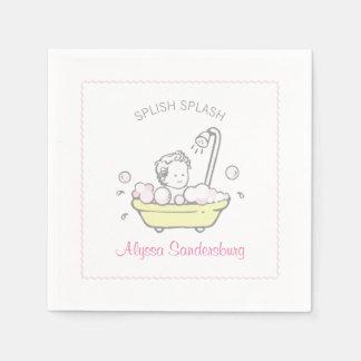 Mädchen-Schaumbad-Babyparty-Servietten Servietten