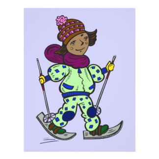 Mädchen-Schnee-Skifahren Flyer