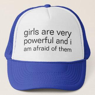 Mädchen sind sehr stark und ich habe sehr Angst Truckerkappe