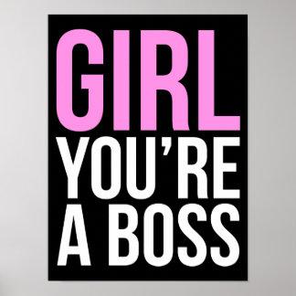 Mädchen sind Sie ein Chef Poster