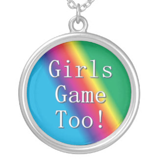 Mädchen-Spiel-auch Regenbogen-Halskette Versilberte Kette