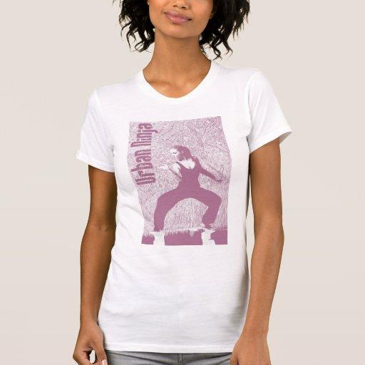 Mädchen städtischer Ninja T - Shirt