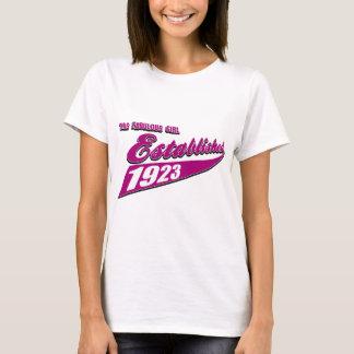 Mädchen stellte 90 her T-Shirt