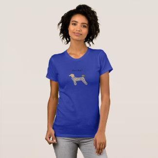 Mädchen-T-Shirt blaue Hunde kundenspezifisch T-Shirt