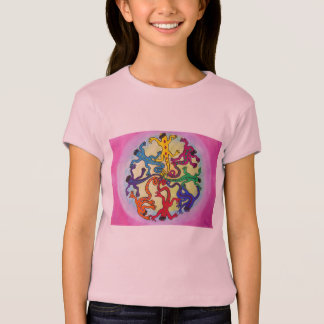 Mädchen-T-Shirt - Kreis der Eidechsen T-Shirt