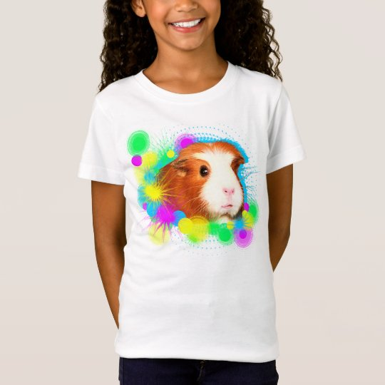 Mädchen T-Shirt mit Meerschweinchen