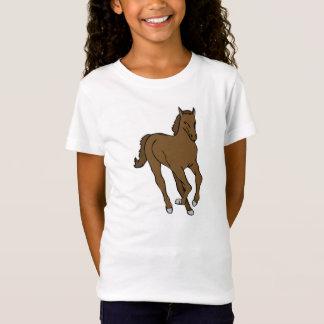Mädchen T-shirt weiß mit Pferdemotiv