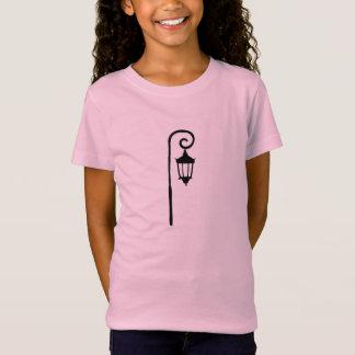 Mädchen-T - Shirt, Wellesley Laternenpfahl-Entwurf T-Shirt