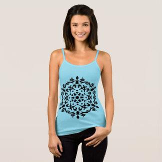 MÄDCHEN-T - Shirtblau mit Mandala Kunst/VÖLKERN Tank Top