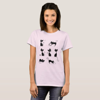 Mädchen-T - Shirtrosa mit Katzen T-Shirt