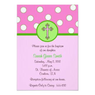 Mädchen-Taufe-Einladung Karte