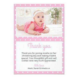 Mädchen-Taufe/Taufe danken Ihnen zu kardieren 12,7 X 17,8 Cm Einladungskarte