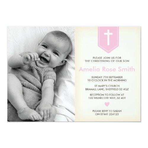 ... Mädchen Taufe/Taufe Einladung Karte ...