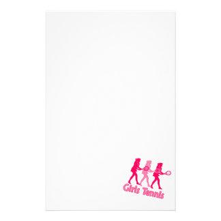 Mädchen-Tennis-Rosa Briefpapier