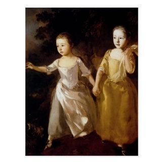 Mädchen Thomas Gainsborough-, die einen Postkarte