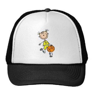 Mädchen-tröpfelnde Basketball-T-Shirts und Geschen Retrokultkappen