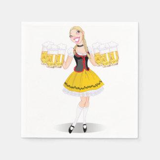 Mädchen-Umhüllungs-Bier-Papierservietten Serviette