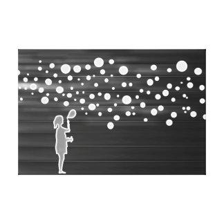 Mädchen und Blasen Leinwanddruck