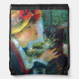 Mädchen und HundRenoir Impressionismus-schöne Turnbeutel