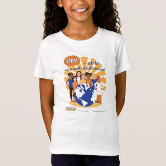 Mädchen und STAMM: Eine Welt des T-Shirt