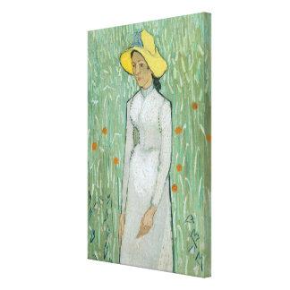 Mädchen Vincent van Goghs | in Weiß, 1890 Leinwanddruck