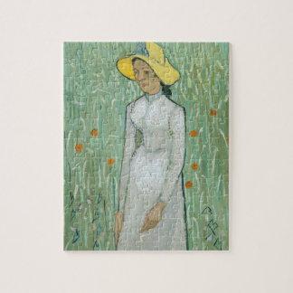 Mädchen Vincent van Goghs | in Weiß, 1890 Puzzle