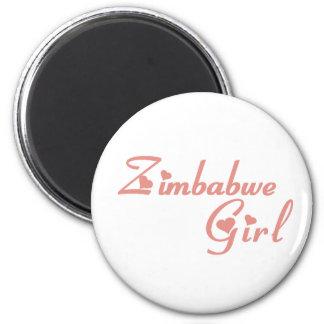 Mädchen von Simbabwe Runder Magnet 5,1 Cm