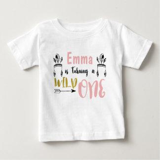 Mädchen-wildes 1. Geburtstags-Shirt Baby T-shirt
