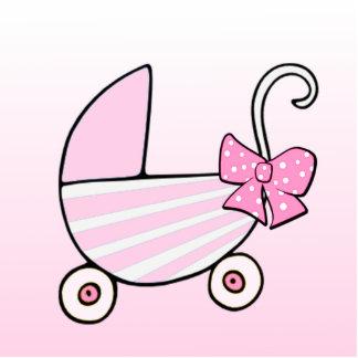 Mädchen-willkommenes Baby oder Babyparty Fotoskulptur Ornament