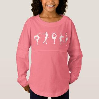 Mädchen-Zahl Skater-langes Hülsen-Rosa Trikot Shirt