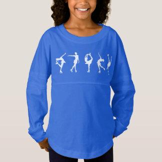 Mädchen-Zahl Skater-langes Hülsen-Shirt Trikot Shirt