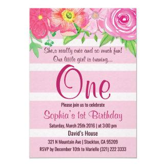 Mädchen zuerst 1. ein Geburtstags-Party laden ein Karte