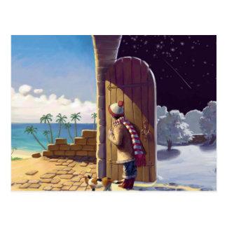 Mädchen zwischen Sommer und Winter Postkarten