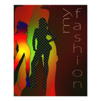 Mädchenfrauen-Silhouettemodell der Mode