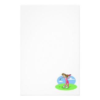 Mädchengolfspieler Briefpapier