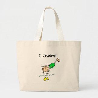 Mädcheni Swim-T - Shirts und Geschenke Jumbo Stoffbeutel
