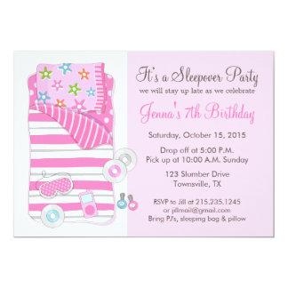 Mädchensleepover-Pyjama-Schlummer-Party Einladung