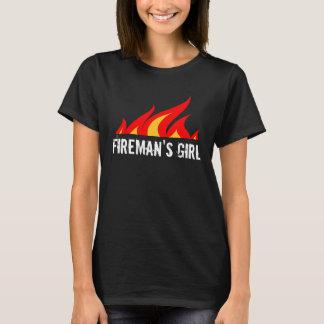 Mädchent-shirt des Feuerwehrmannes für Ehefrau T-Shirt