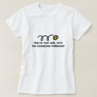 Mädchentennist-shirt mit lustigem Zitat Hemden