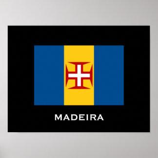 Madeira-Flaggen-Plakat Poster