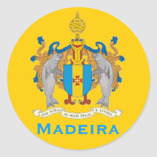 Madeira-Flaggen-runder Aufkleber