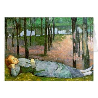 Madeleine im Bois d'Amour Grußkarte