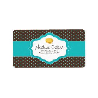 Madeleine-Plätzchen-Adressen-Etiketten Adressetiketten