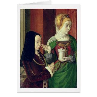 Madeleine vom Burgund stellte sich durch St Mary M Grußkarten